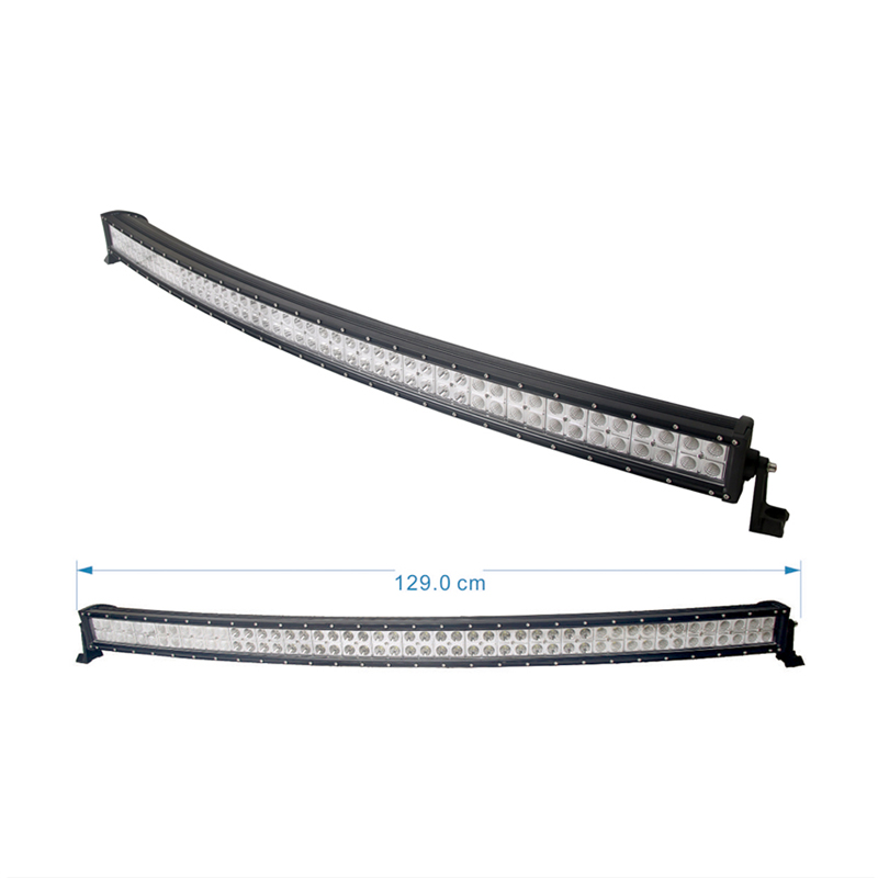 288W curved legality led light bar on back of truck back rack