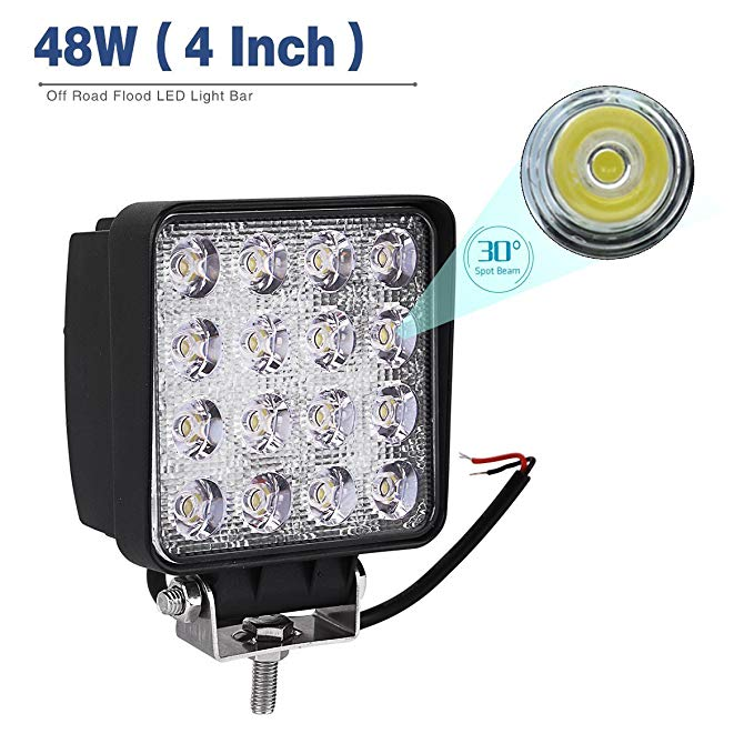 IP68 waterproof 48w led work lamp