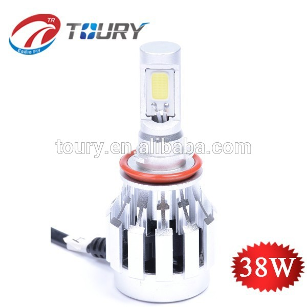 LED headlight globe , 38w led head light, H11